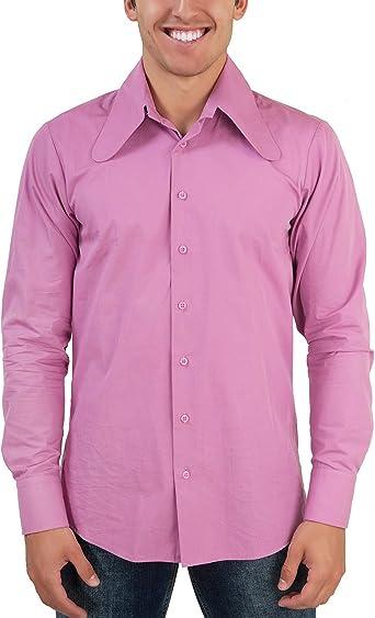 Color Rosa 70 Ger Perro Salchicha de oído Cuello Retro Camisa: Amazon.es: Ropa y accesorios