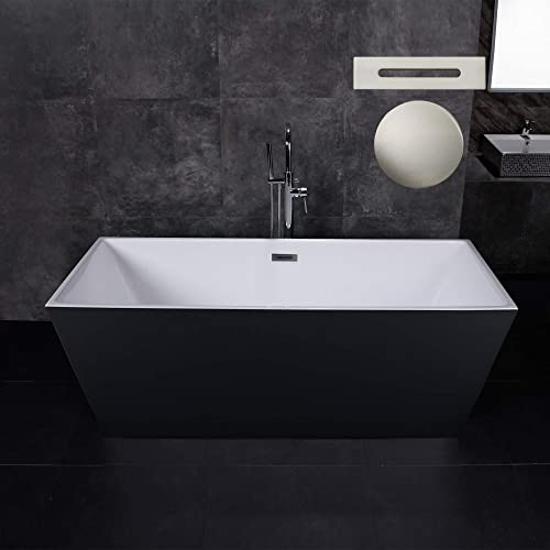 Woodbridge 67″ Acrylic Freestanding Bathtub Contemporary Soaking Tub