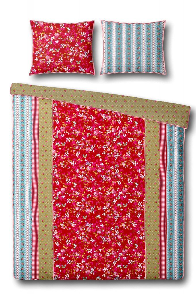 Pip Studio Bedding Percale Chinese Rose Red 135 cm x 200 cm red/rot ...
