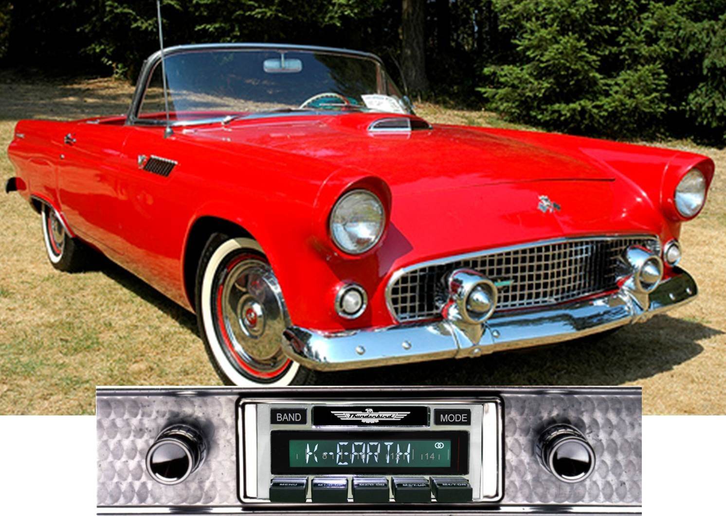 1955-1957 Ford Thunderbird USA-630 II High Power 300 watt AM FM Car Stereo/Radio with iPod Docking Cable