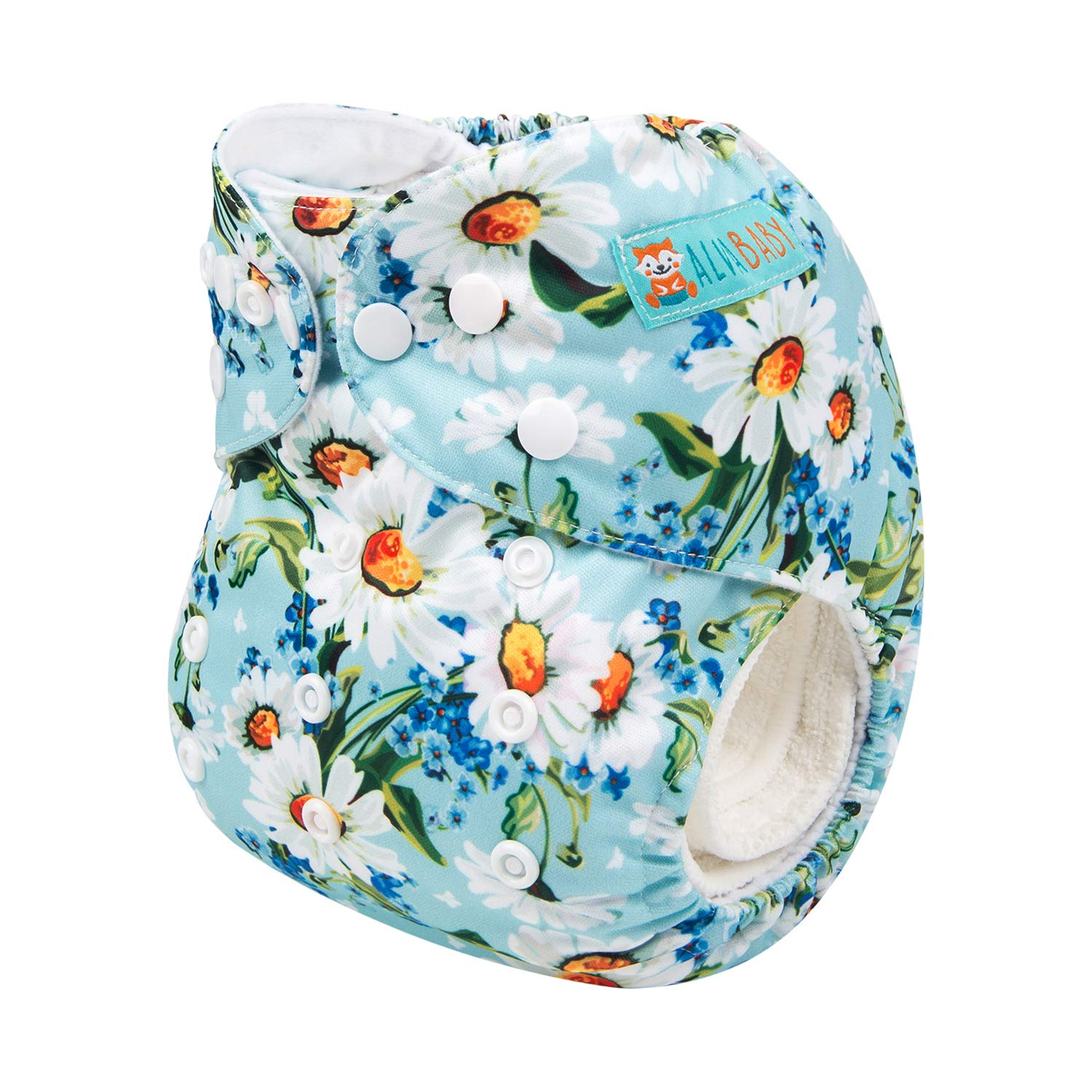 ALVABABY Cloth Diapers One Size Adjustable Washable Reusable One Pocket Nappy for Baby Girls and Boys with 2 Inserts H171
