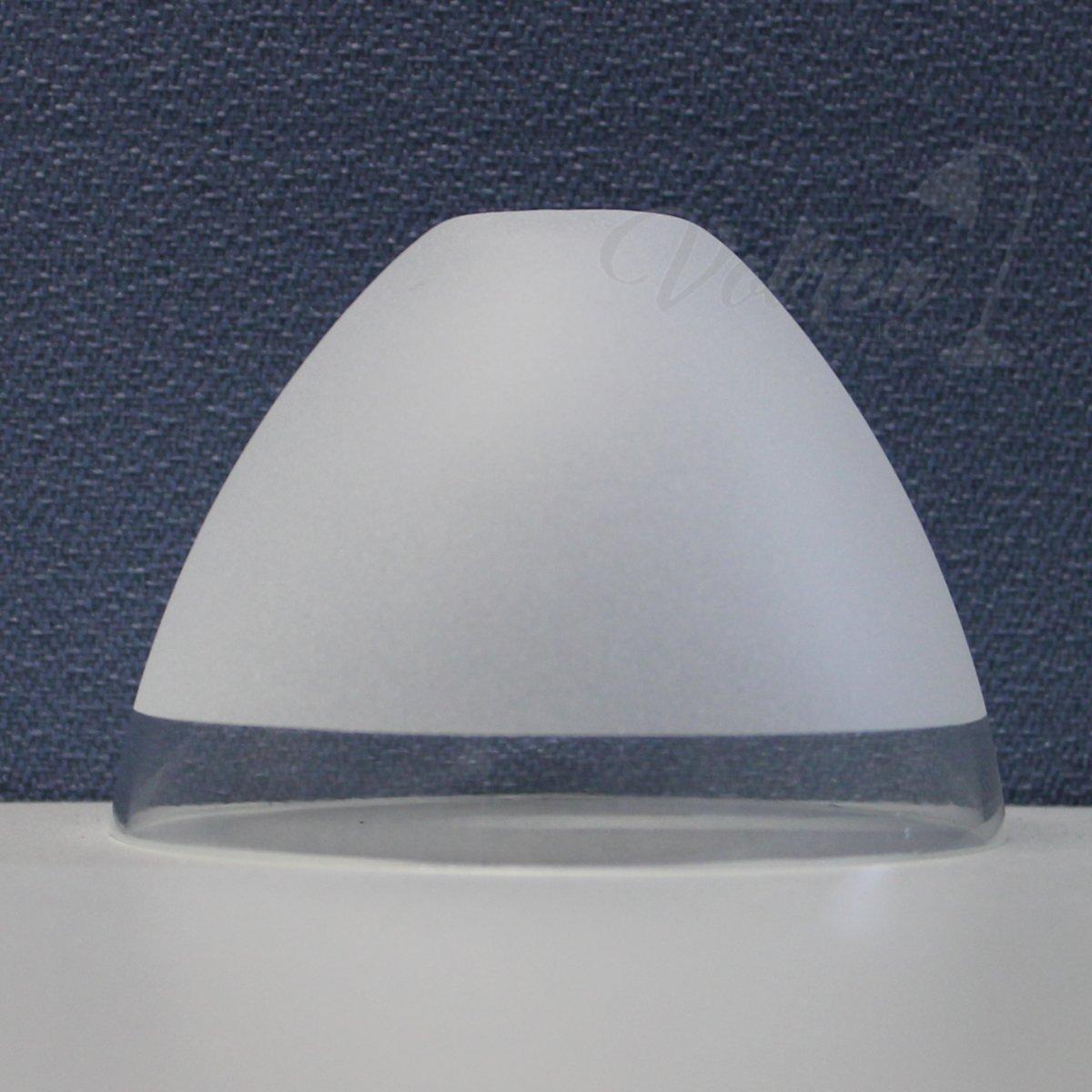 G9 Glas klar teilmattiert Ersatzglas Leuchtenschirm Lampenglas Lampenschirm Glockenform