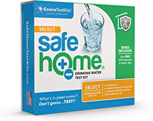 Safe Home® SELECT Drinking Water Test Kit – 15 Different Contaminants Tested at Our EPA Certified Lab – Lead, Arsenic, Copper, Iron, Fluoride, Nitrate, Hardness, TDS and more – Don't Guess. TEST!