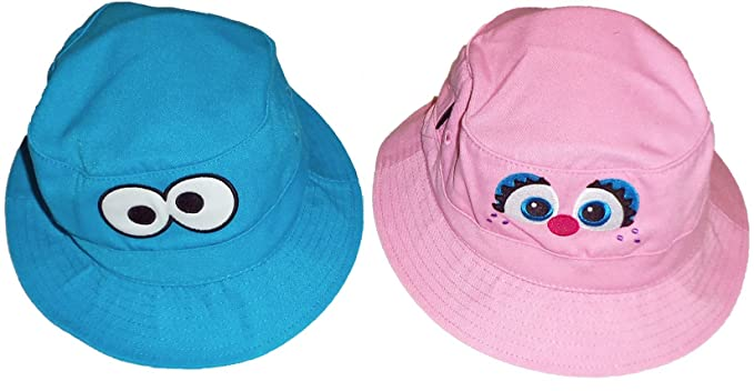 Amazon.com  Sesame Street Cookie Monster   Abby Toddler Bucket Cap ... 0ad827f4b06