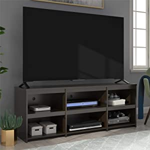 "Ameriwood Home Alan View 65"", Espresso TV Stand,"