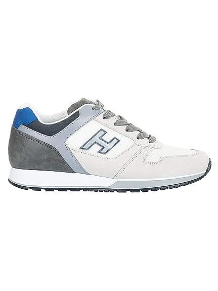 Hogan Hombre HXM3210Y861KEH6EDY Beige Gamuza Zapatillas: Amazon.es: Zapatos y complementos