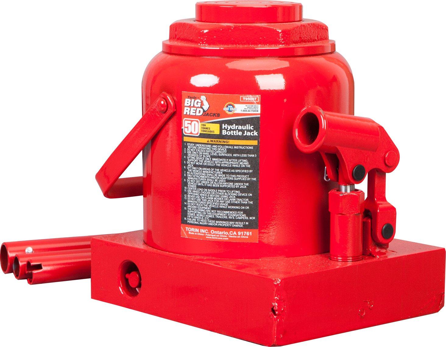 Torin Big Red Hydraulic Bottle Jack 50 Ton Capacity Floor Parts Diagram Automotive
