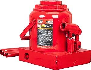 Torin Big Red Hydraulic Bottle Jack, 50 Ton (100,000 lb) Capacity