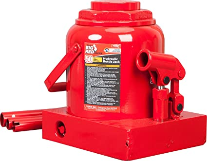 amazon com torin big red hydraulic bottle jack 50 ton capacity rh amazon com hydraulic bottle jack with gauge