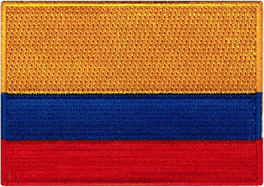 Colombia Flag Patch Embroidered Iron On Applique Colombian