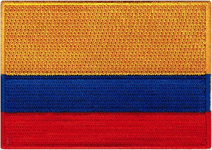 """25 Pcs Colombia Flag Embroidered Patches 3.5/""""x2.25/"""" iron-on"""