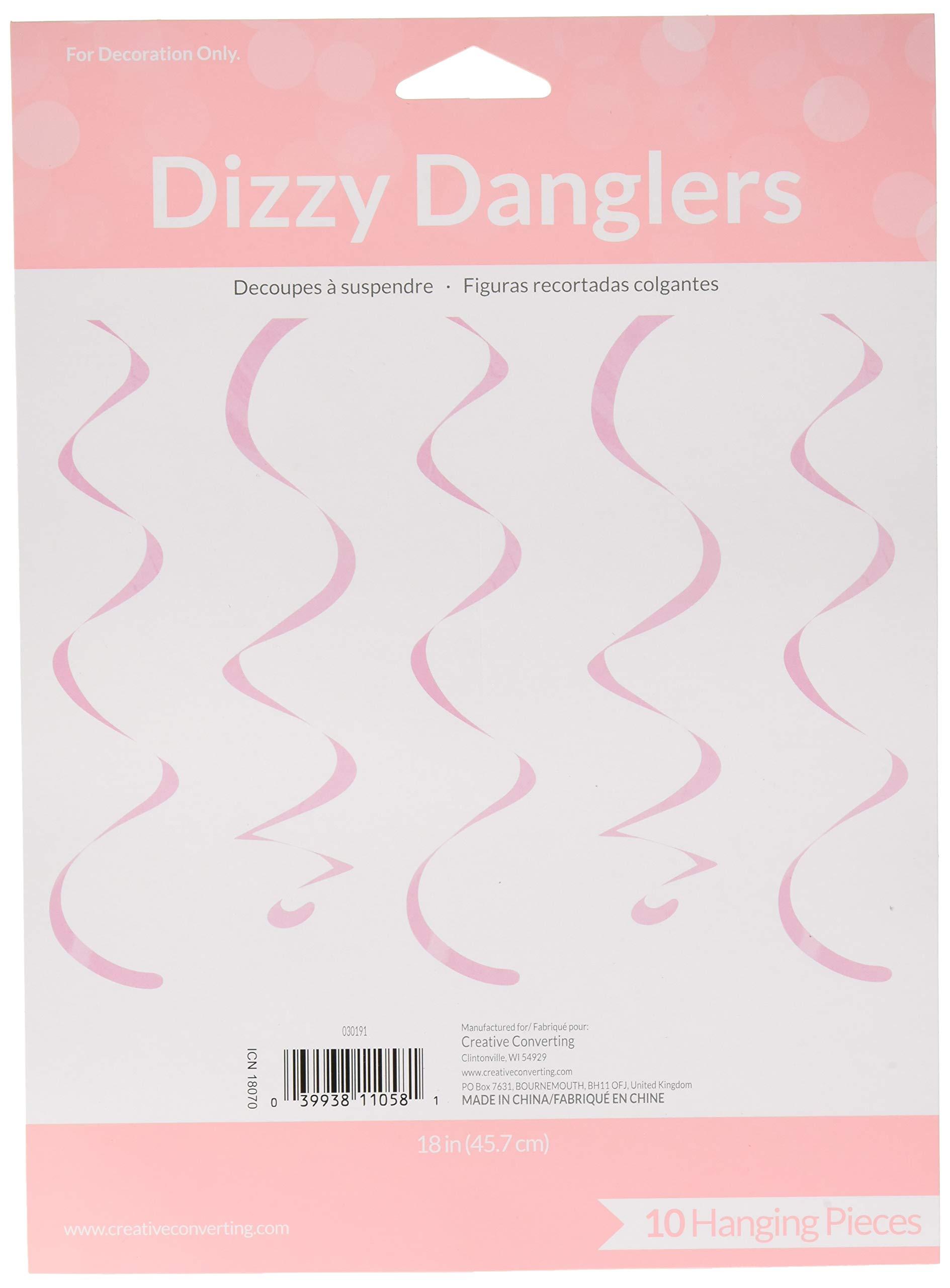 Creative Converting 60 Count Dizzy Danglers, 18'', Classic Pink