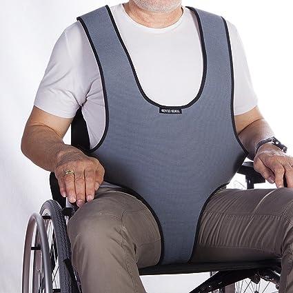 Imbracatura gilet dorsale perineale di sicurezza per sedia a rotelle