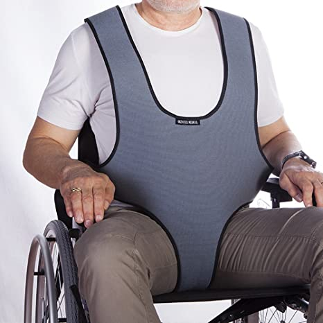 Mobiclinic Arnés Chaleco perineal de sujeción Tipo Peto | para Silla de Ruedas, sillas y
