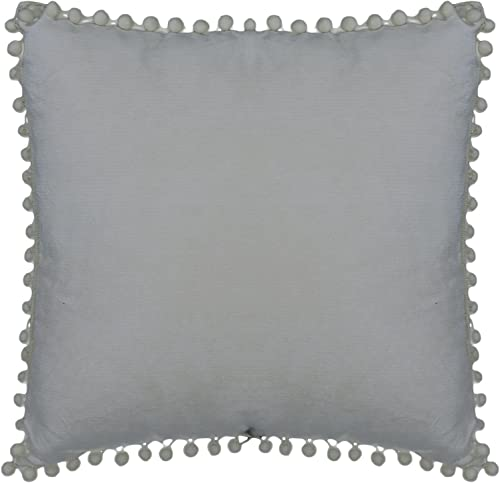 Urban Loft by Westex Pom Grey Cushion 18 x 18 , Medium