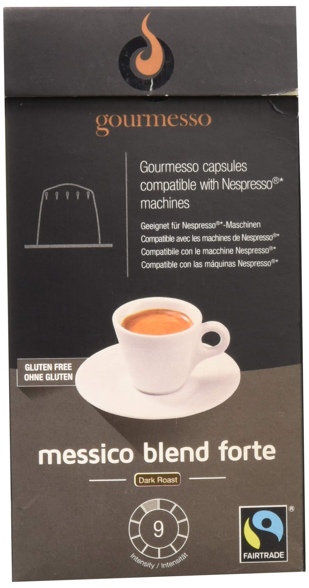 Gourmesso Messico Blend Forte - 10 Nespresso Compatible Coffee Capsules - Fair Trade