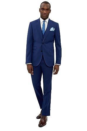 French Connection Men`s Slim Fit Bright Blue 3 Piece Suit 40R ...