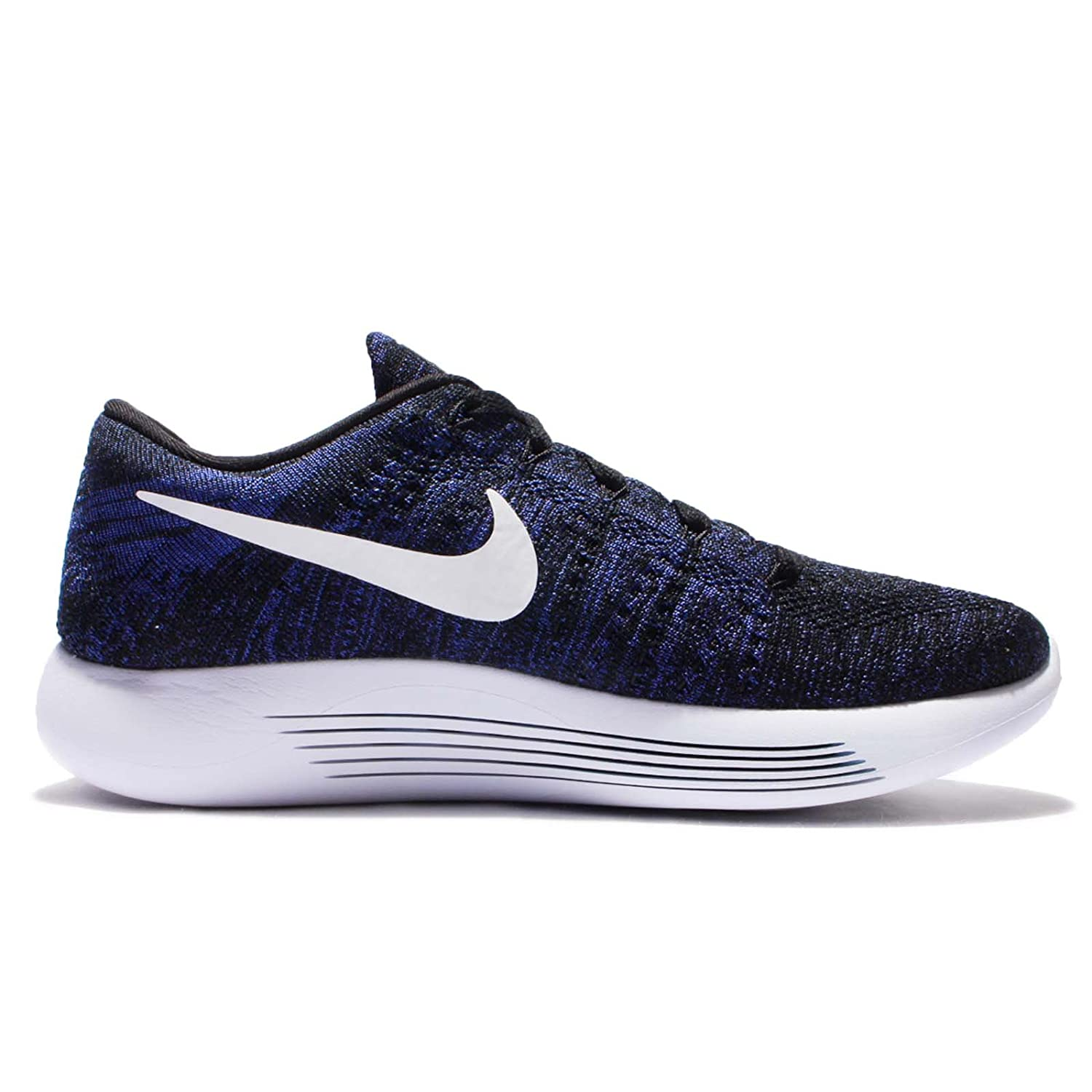 NIKE Women's Lunarepic Low Flyknit Running Shoes B0059KVTJ2 7 M US|Black/White/Dark Purple Dust