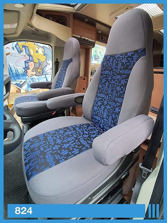 Bremer SitzbezÜge Maß Sitzbezüge Kompatibel Mit Wohnmobil Fahrer Beifahrer Grau Blau 824 Auto