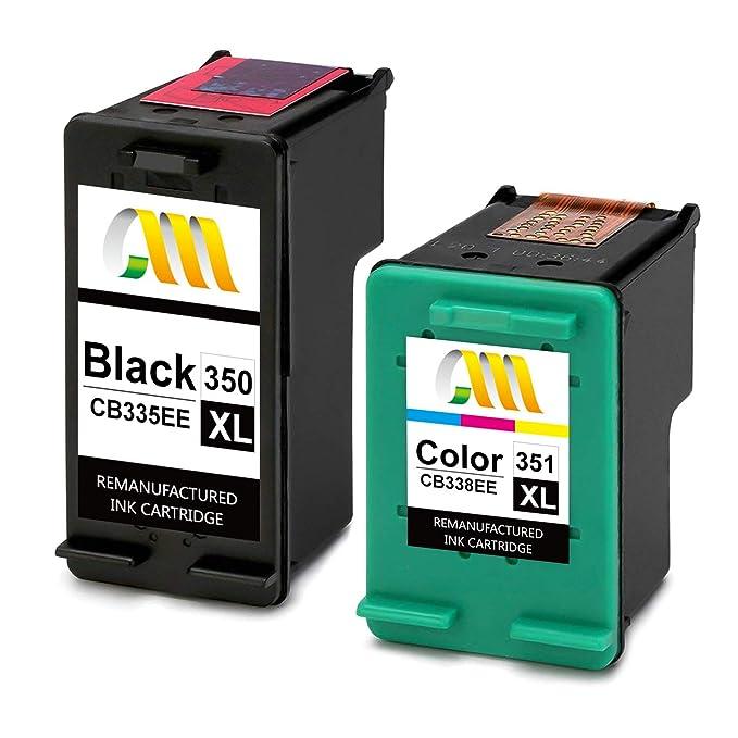 CMCMCM Remanufacturado Cartucho de Tinta para HP 350 351 XL para ...