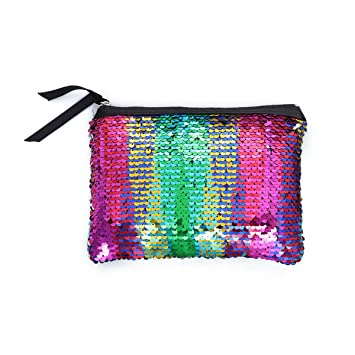 Amazon.com | Fashion Sparkly Sequin Clutch Bag Handbag Lady ...