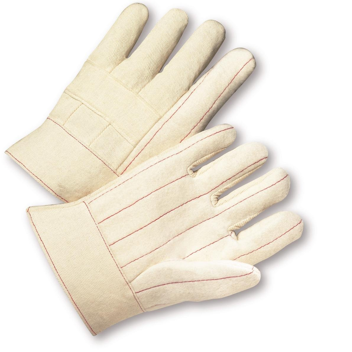 Pack of 12 Large West Chester 7930 Extra Heavy Weight Cotton Hot Mill Gloves White