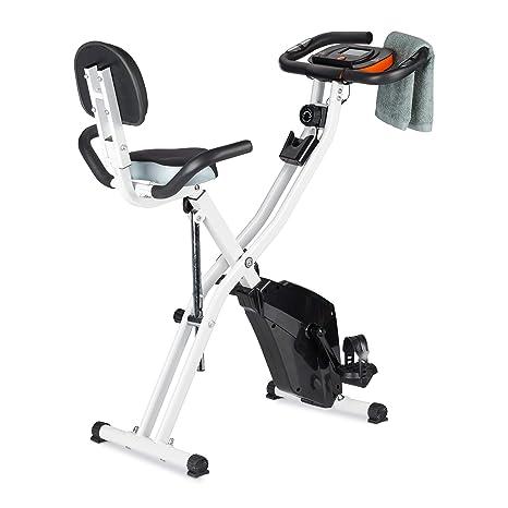 Relaxdays Bicicleta Estática con Pantalla Freno Magnético y ...
