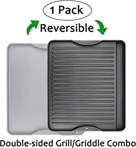 "Utheer Reversible Grill Griddle for All Camp Chef 14"" & 16"" Stoves Cast Iron Griddle, 1 Pack"