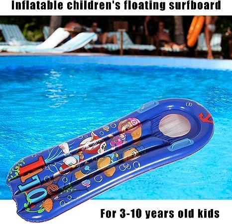 Windyday Cama De Natación Acuática para Niños Los Niños De Tablas De Surf Inflables Flotan sobre El Agua Juguetes De Drenaje Sentados En La Cama Flotante Aprendiendo Nadando Anillo De Natación: Amazon.es: