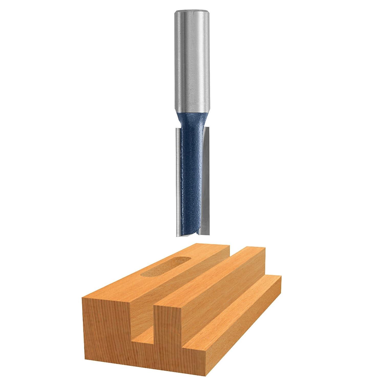 x 1 In Carbide Tipped 2-Flute Straight Bit Bosch 85613M 1//4 In