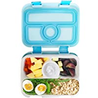Bento Lunch Box for Kids, Boys and Girls by Fenrici, Durable for Kindergarten, Elementary Schoolers, Leak Proof, Soup Safe, Light Weight, Microwave, Dishwasher Safe Insert, 2 Free Sets of Utensils