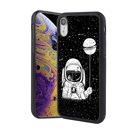 Amazon Com Obesty Astronaut Wallpaper Black Phone Case For Iphone