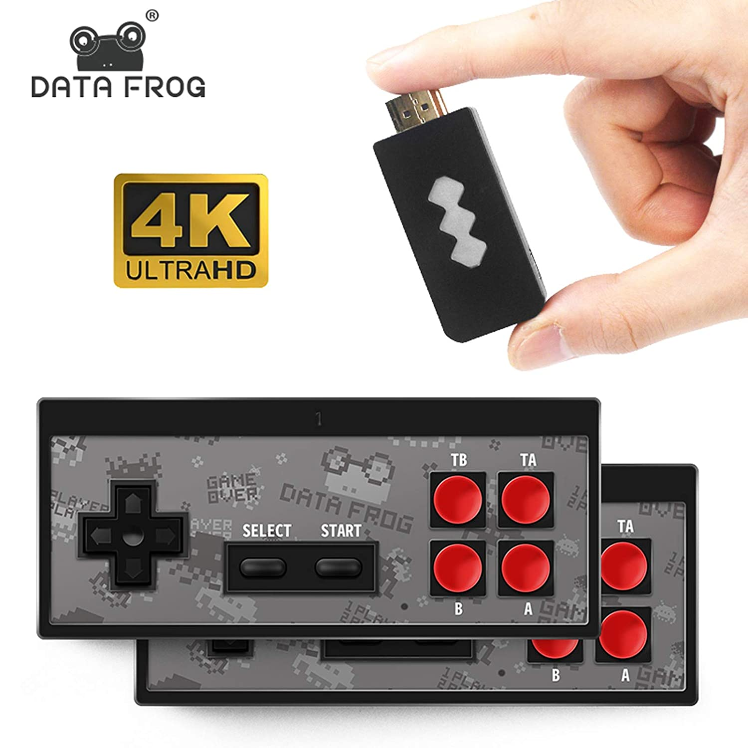 Amazon Com Hdmi Y2 Data Frog Hd Video Games Console Y2 Hd Wireless Tv Games Plug And Play Video Game Console For Kids And Family Wireless Game Console Build In 568 Games Video