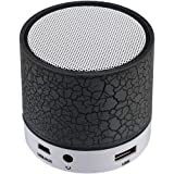 Sudroid Mini Wireless Bluetooth Speaker USB Music Sound Box Subwoofer with Mic (Support TF Card) Black