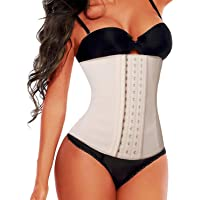 SHAPERX Women's Latex Colombian Waist Trainer Corset Long Torso Weight Loss 3 Hook