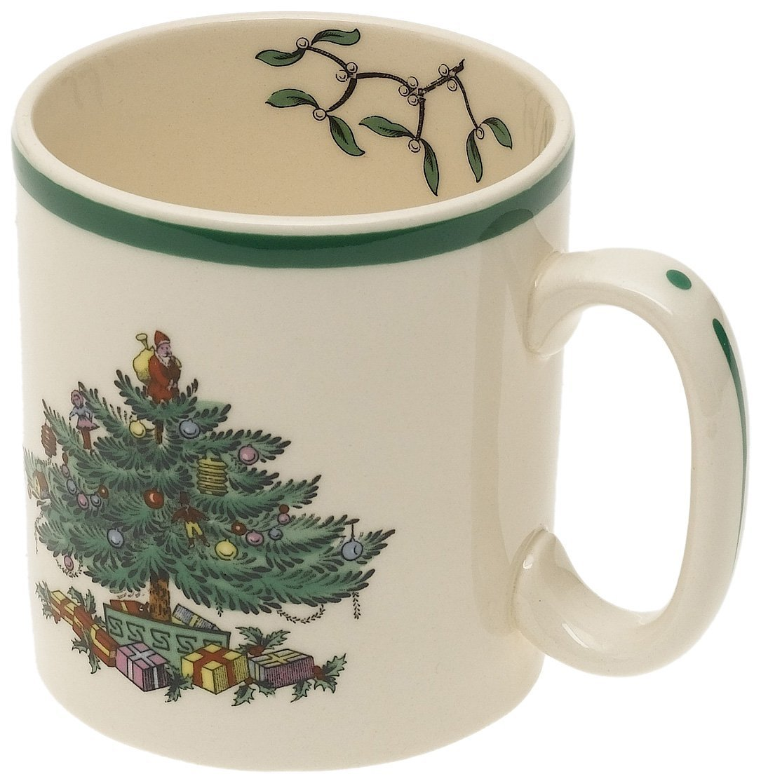 Amazon.com | Spode Christmas Tree Mug, Set of 4: Spode Christmas ...