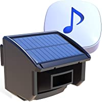 Driveway Alarm- 1/4 Mile Long Transmission Range-Solar Powered No Need Replace Batteries-Outdoor Weatherproof Motion…