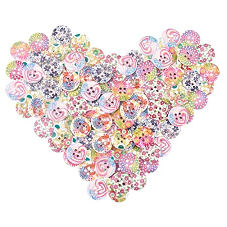 flat back polka dot button 13 mm Craft ROUND BUTTONS -fabric covered