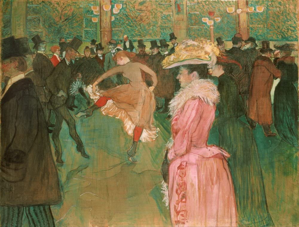 Berkin Arts Henri de Toulouse Lautrec Impression Gicl/ée Toile Imprimer Peinture D/écoration Reproduction Affiche Print Au Cirque, Entrant dans Le Ring