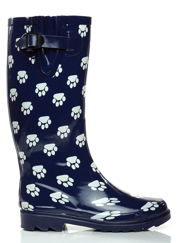 Essential Apparel Women's Paws Mid-Calf Waterproof Rain Boots