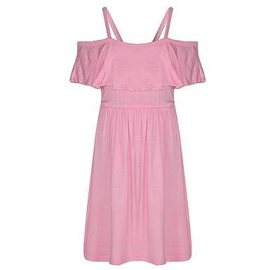 f02cb04872107 A2Z 4 Kids® Girls Skater Dress Kids Deigner's Plain Color Party Fashion Off  Shoulder Dresses New Age 5 6 7 8 9 10 11 12 13 Years