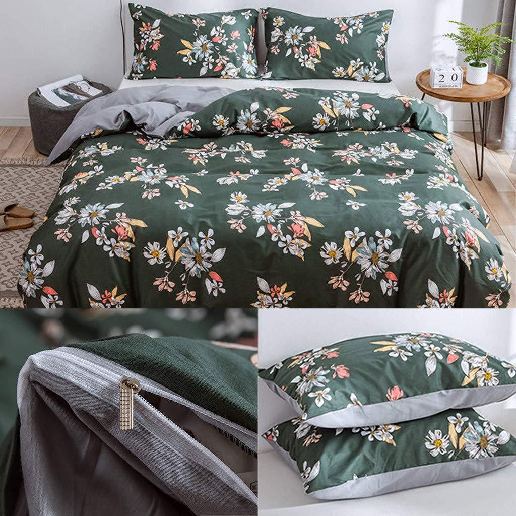 Beyonds Pure White Luxury 3 Piece Bed Set Deep Pockets Bedding Set Includes x1 Duvet Cover x2 Pillowcases - Soft Cotton Fabric