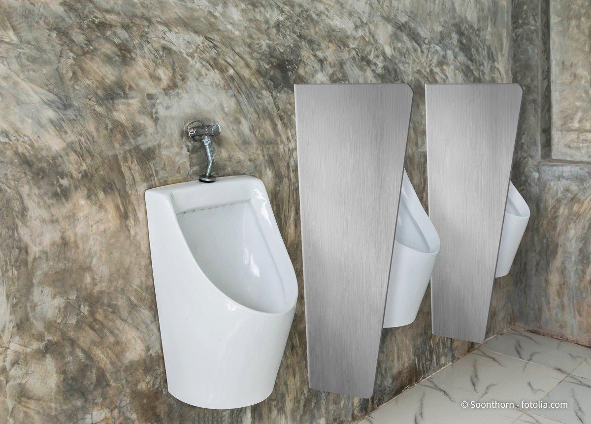 Urinario separador avergüenza – Inodoro de pared divisores wandhängend 900 mm x 450 mm • 3 mm Acero Inoxidable V2 A: Amazon.es: Industria, empresas y ciencia