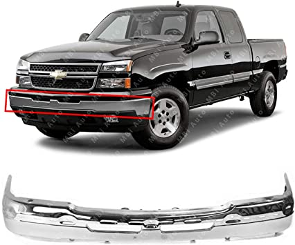 NEW Chrome Front Bumper Face Bar for 2003-2007 Chevy Silverado Avalanche Truck