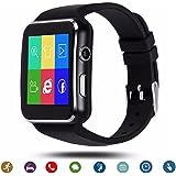 TagoBee El Reloj Inteligente Bluetooth TB01 con Tarjeta SIM es Compatible con Whatsapp Notificación Compatible con Todos los teléfonos Android y iPhone (función Parcial) Negro