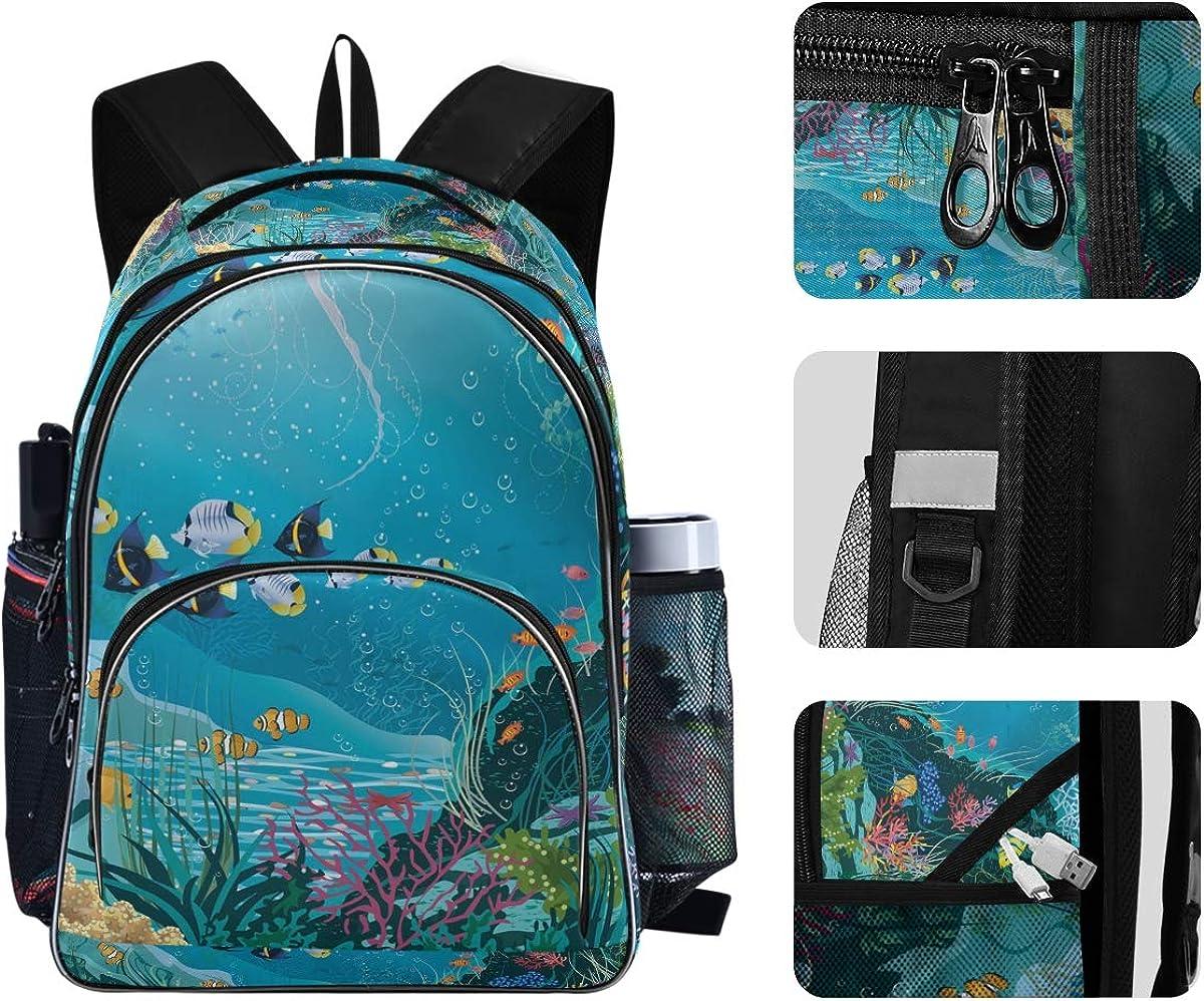 Sea Life Backpack for Students Unisex Shool Bag Laptop Bag College School Bookbag Backpack 901c