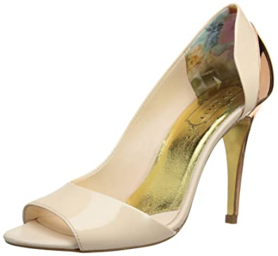 dc7e9696e Ted Baker Maceey, Women's Peep-Toe Court Shoes, Nude, 3 UK: Amazon ...