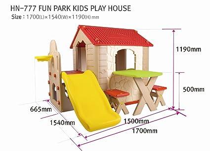 Babycenterindia Plastic Kid's Fun Park Play House (Multicolour) Activity Play Centres at amazon