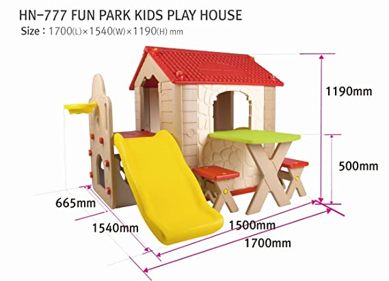 Babycenterindia Plastic Kid's Fun Park Play House (Multicolour)