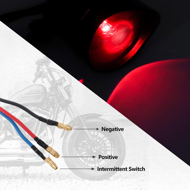 Senkauto Motocycle Large Bullet Turn Signals Ring Visor Light For Harley Dyna Softail Chopper Bobber Kawasaki Suzuki Honda Yamaha Custom Black w//Black Lense, Amber Light